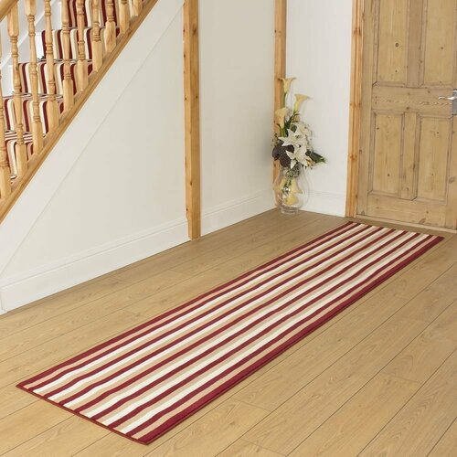 Bairdford Tufted Red Hallway Runner Rug ClassicLiving Rug