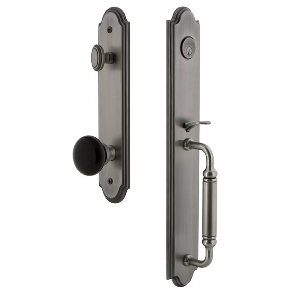 Arc Single Cylinder Handleset with C Grip and Coventry Knob by Grandeur