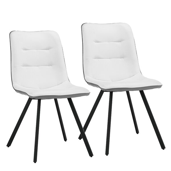 Dimas Cushioned Upholstered Dining Chair (Set of 2) by George Oliver