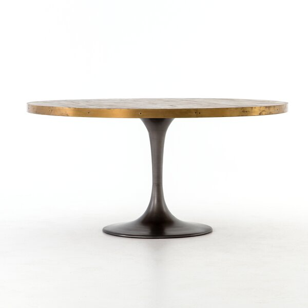 Sommer Iron Base Dining Table by 17 Stories