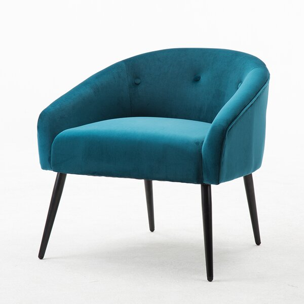 Maolis Stylish Upholstered Button Leisure Armchair by Mercer41