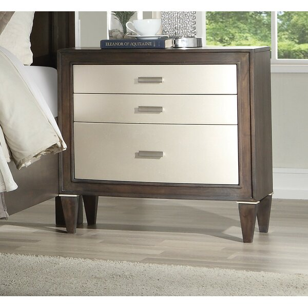 Fuselier 3 Drawer Nightstand by House of Hampton