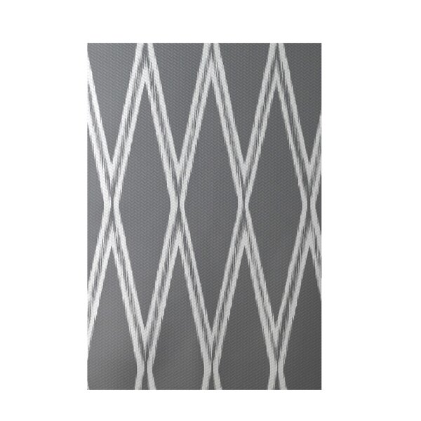 Gate Keeper Geometric Print Classic Gray Indoor/Outdoor Area Rug by e by design