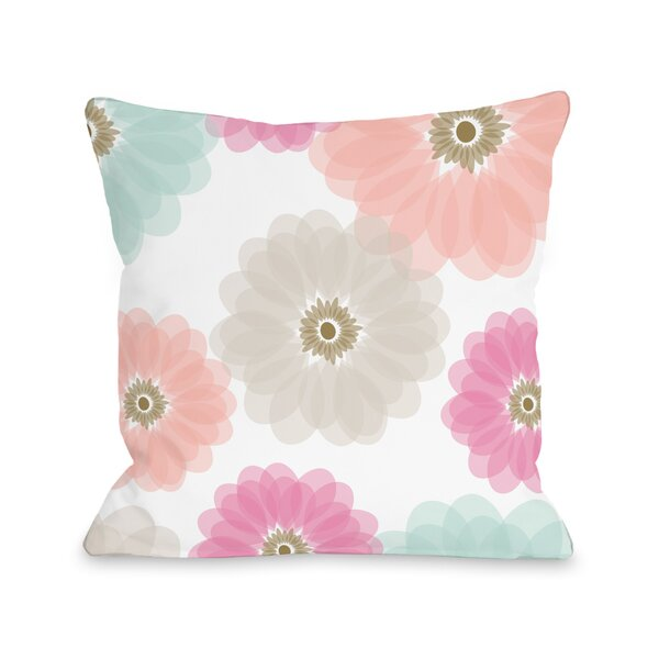 Spring Jardin Polyester Throw Pillow by One Bella Casa