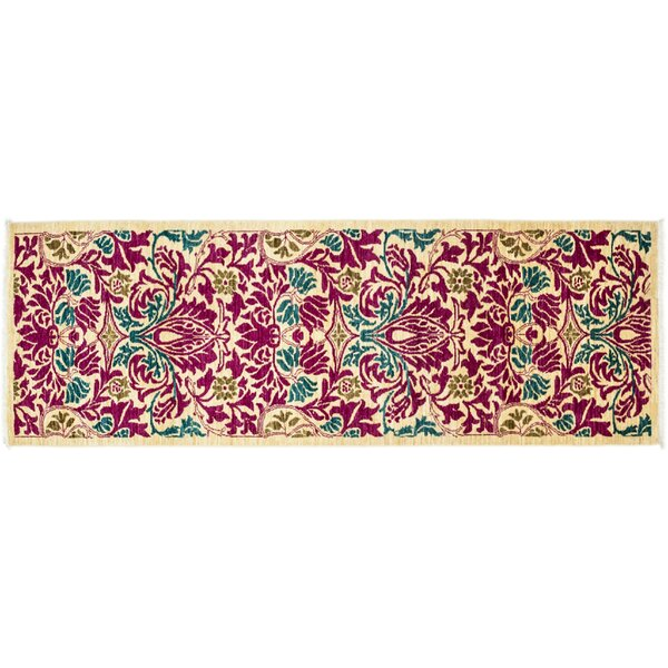 One-of-a-Kind Arts and Crafts Hand-Knotted Pink Area Rug by Darya Rugs