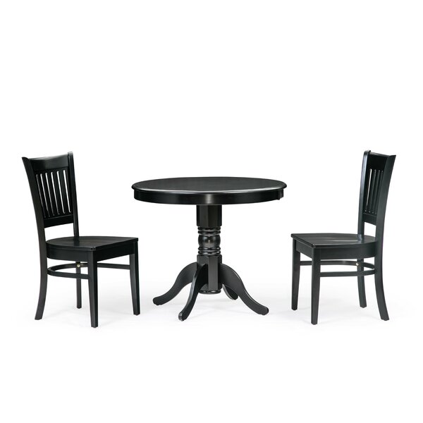Schade 3 Piece Solid Wood Dining Set by Winston Porter