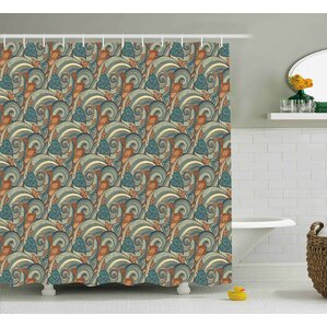 Bayles Contrast Bright Tones Shower Curtain