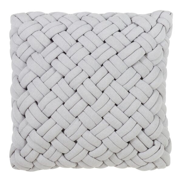 Wortman Chunky Weave Design Throw Pillow by Gracie Oaks