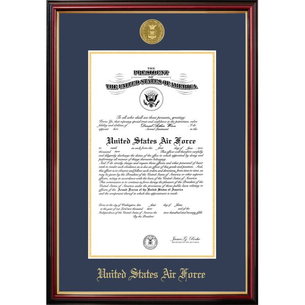 Air Force Certificate Petite Picture Frame by Patriot Frames