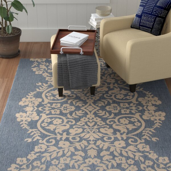 Joliet Tapestry Azurite Area Rug by Winston Porter
