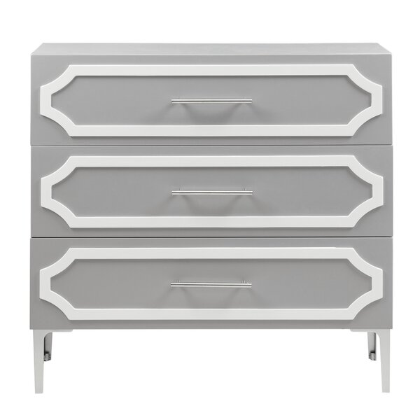 Hiltz 3 Drawer Accent Chest by House of Hampton House of Hampton