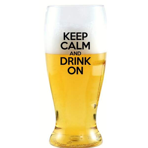Beldon Keep Calm & Drink On 10 oz. Beer Glass by Winston Porter