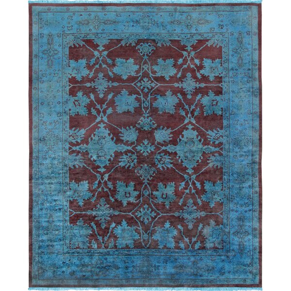 Overdye Hand-Knotted Wool Plum/Blue Area Rug by Pasargad