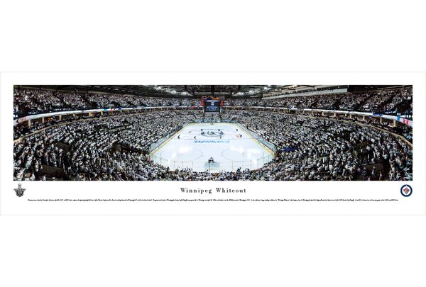 NHL Winnipeg Jets - Whiteout End Zone by Christopher Gjevre Photographic Print by Blakeway Worldwide Panoramas, Inc