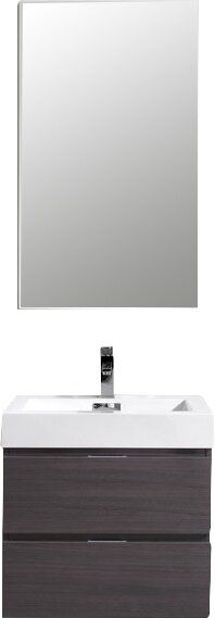 Tenafly 24 Single Wall Mount Bathroom Vanity Set by Wade LoganTenafly 24 Single Wall Mount Bathroom Vanity Set by Wade Logan