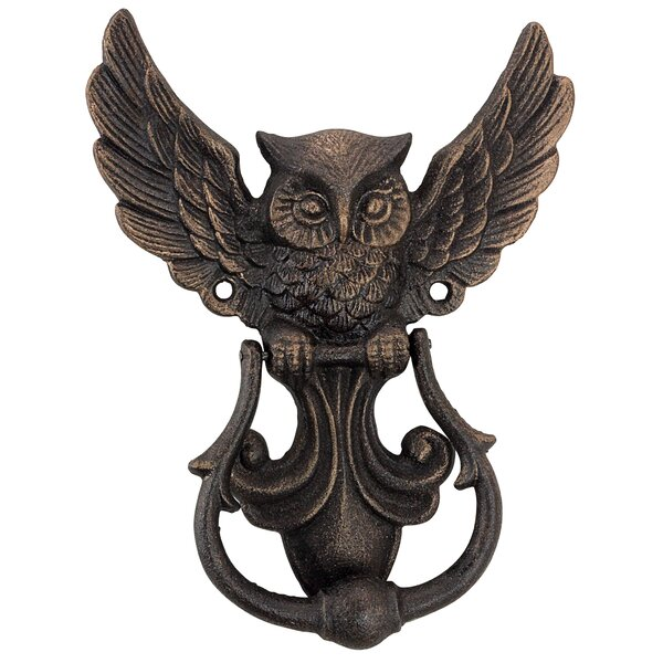 Mystical Spirit Owl Authentic Foundry Door Knocker by Design Toscano