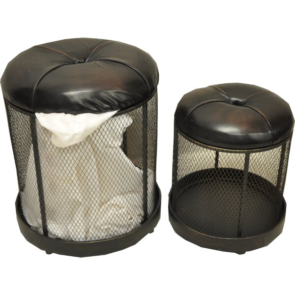 Storage Entryway 2 Piece Accent Stool Set by DKMG