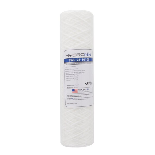 String Wound 100 Micron Under Sink Replacement Filter by Hydronix