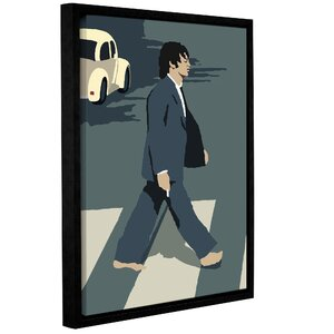 'Paul' Framed Graphic Art Print On Canvas by Zipcode Design