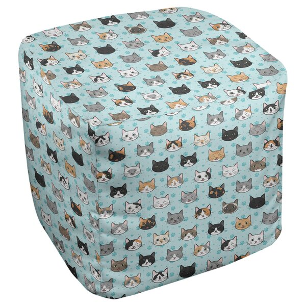 Kitterman Kitty Cat Cube Ottoman by Ebern Designs