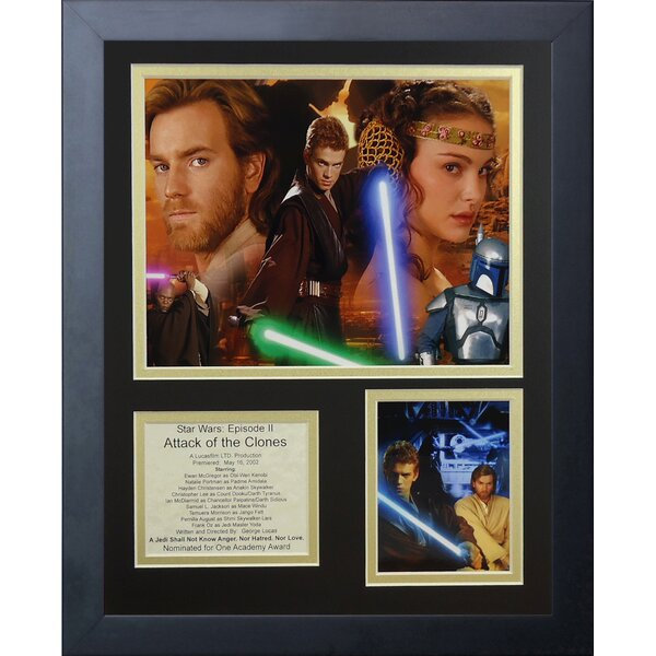 Star Wars: Attack of the Clones Framed Photographic Print by Legends Never Die