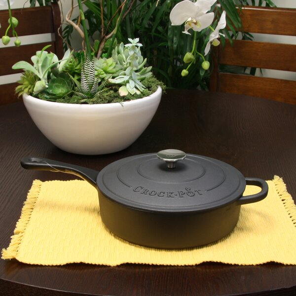 Artisan 3.5 Qt. Enameled Saute Pan with Lid by Crock-pot