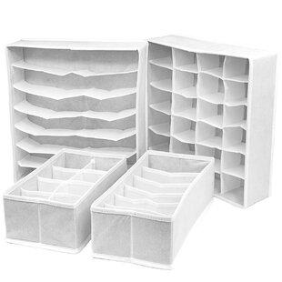 4 Piece Drawer Organize Set By Rebrilliant
