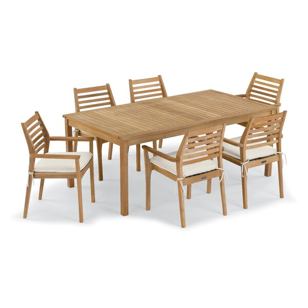 Crossland 7 Piece Sunbrella Dining Set With Cushions By Rosecliff Heights