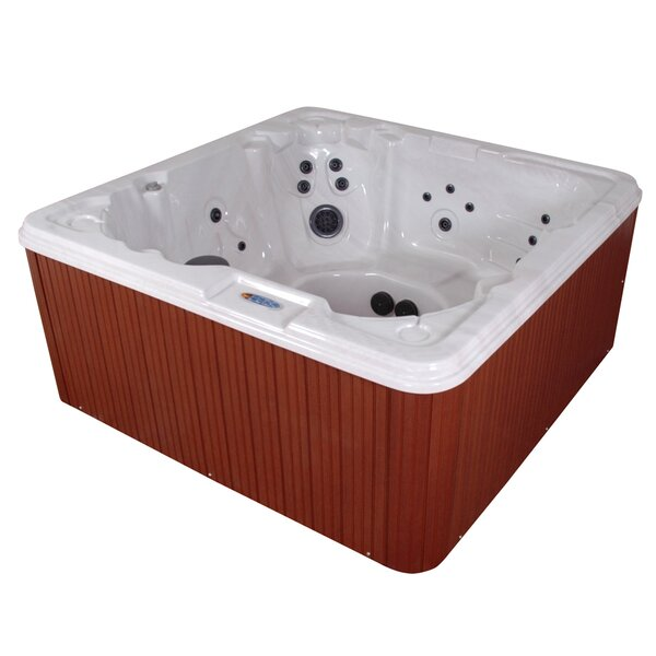 Martinique 7-Person 80-Jet Spa with LED Light and Ozonator by QCA Spas