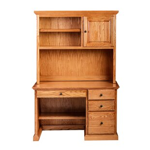 Best Reviews Minton Pencil Drawer Computer Desk with Hutch ByLoon Peak