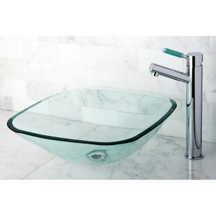 Online Reviews Templeton Glass Rectangular Vessel Bathroom Sink By Kingston Brass