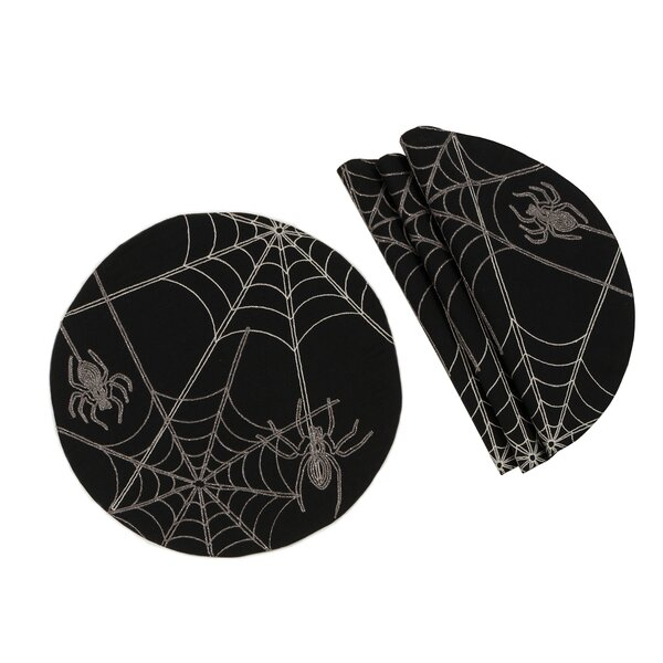 Shellson Halloween Spider Web 16 Placemat (Set of 4) by The Holiday Aisle