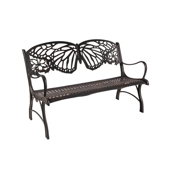 Cody Butterfly Cast Iron Park Bench by Rosalind Wheeler