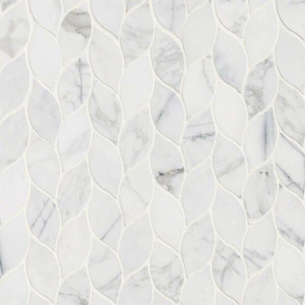 Calacatta Blanco Pattern Polished Marble Mosaic Ti