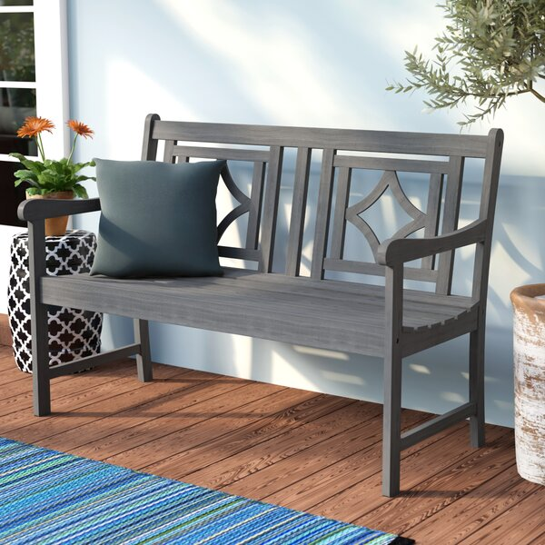 Shelbie Patio Diamond Wooden Garden Bench by Sol 72 Outdoor Sol 72 Outdoor