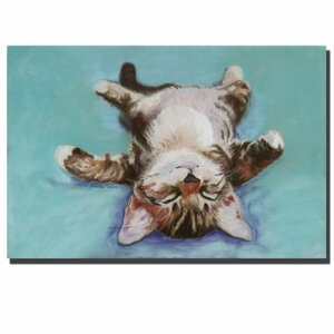 'Little Napper' by Pat Saunders-White Painting Print on Canvas by Trademark Fine Art
