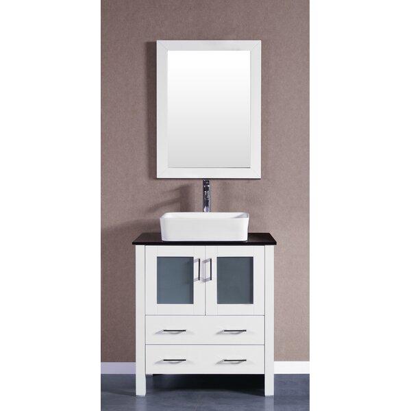 Alva 30 Single Bathroom Vanity Set with Mirror by Bosconi
