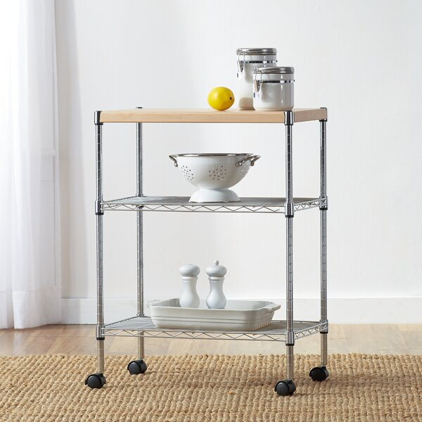 Modern Wayfair Basics Adjustable Kitchen Cart By Wayfair Basics™ Top Reviews