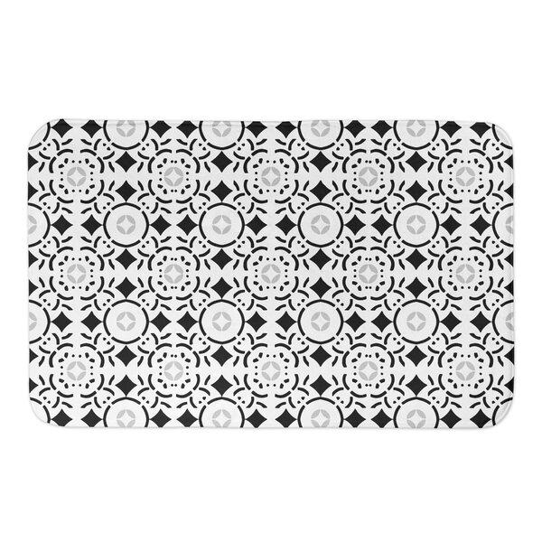 Keewatin Tile Rectangle Non-Slip Geometric Bath Rug