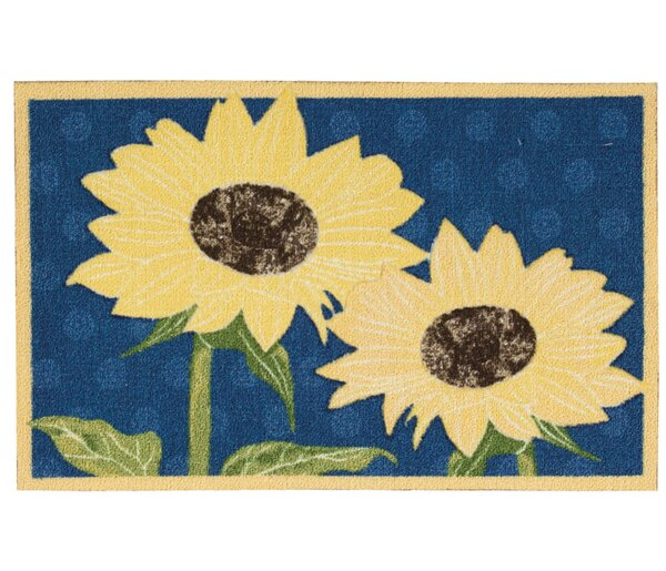 Reese Yellow/Blue Area Rug by Charlton Home