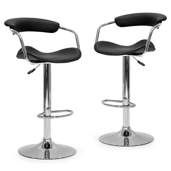 Adjustable Height Swivel Bar Stool (Set of 2) by Glamour Home Decor