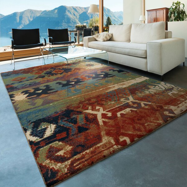 Southwest Dreamcatcher Red/Green Area Rug by The Conestoga Trading Co.