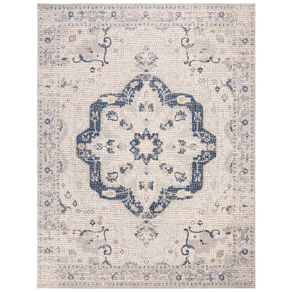 Thursa Ivory Area Rug by Bungalow Rose