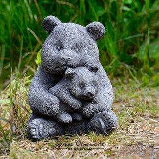 Stone Garden Animals Large stone garden ornaments wayfair panda stone garden statue workwithnaturefo