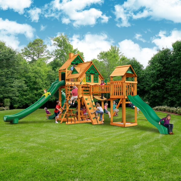 Treasure Trove II Treehouse Swing Set by Gorilla P