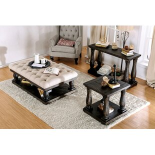 Althea Transitional Fabric 3 Piece Coffee Table Set Alcott Hill