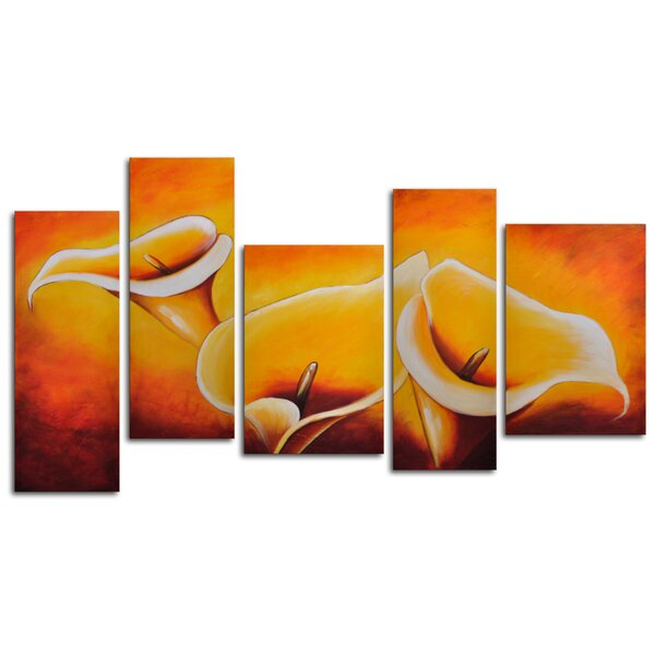 Cloaked in Light 5 Piece Painting on Canvas Set by My Art Outlet