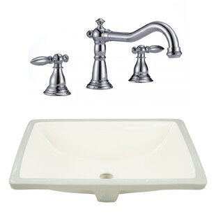 Price comparison CSA Ceramic Rectangular Undermount Bathroom Sink with Faucet and Overflow By Royal Purple Bath Kitchen