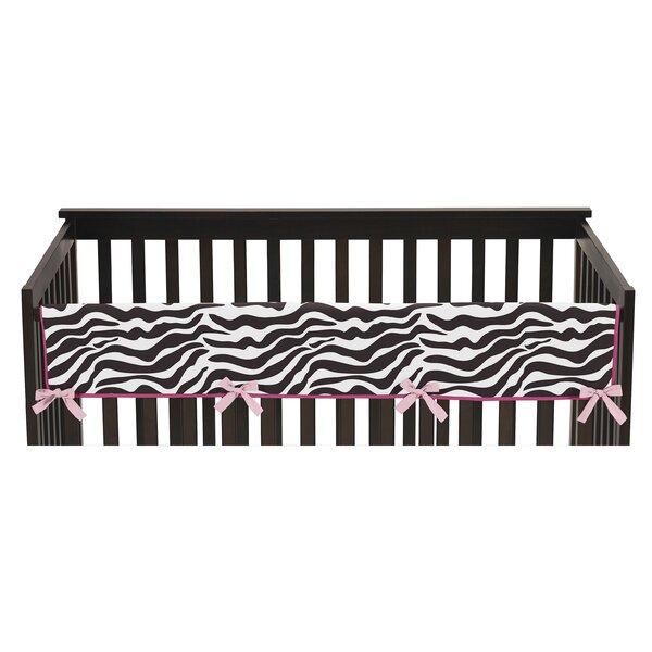 Funky Zebra Long Crib Rail Guard Cover by Sweet Jojo Designs