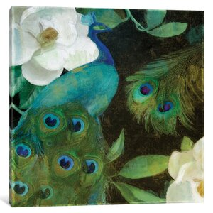 Peacock I Graphic Art on Wrapped Canvas by East Urban Home